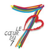 """Logo de l'association """"Au coeur du 7"""""""
